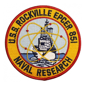 USS Rockville EPCER-851 Naval Research Ship Patch