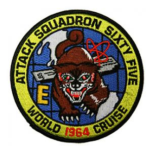 Navy Attack Squadron VA-65 (World Cruise 1964) Patch