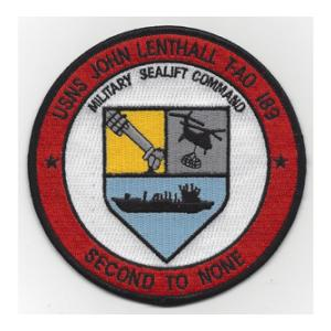 USNS John Lenthall T-AO 189 (Second To None) Ship Patch