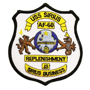 USS Sirius AF-60 Ship Patch