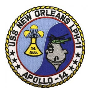 USS New Orleans LPH-11 Apollo-14 Ship Patch