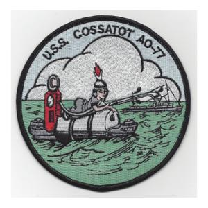 USS Cossatot AO-77 Ship Patch
