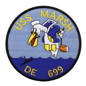 USS Marsh DE-699 Ship Patch