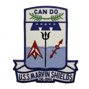 USS Shields DE-1066 Ship Patch