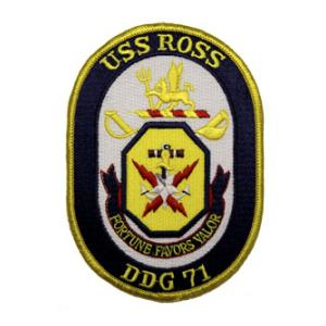 USS Ross DDG-71 Ship Patch