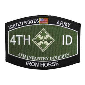 4th Infantry Division Iron Horse Patch