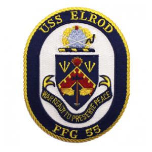 USS Elrod FFG-55 Ship Patch
