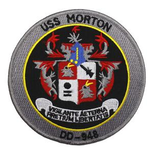 USS Morton DD-948 Ship Patch