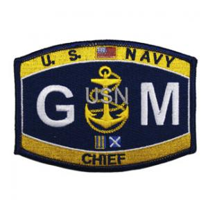 USN RATE GM Gunner's Mate Chief Patch