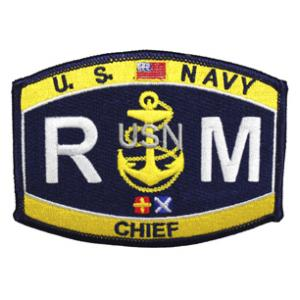 USN RATE RM Radioman Chief Patch