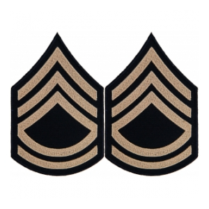 Technical Sergeant Sleeve Chevron (Khaki Stripe)