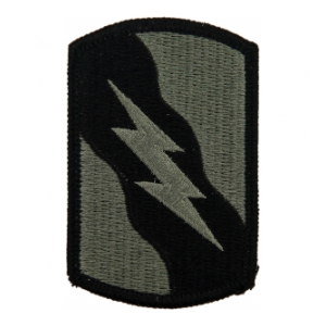 155th Armor Brigade Patch Foliage Green (Velcro Backed)