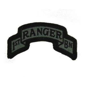 1/75th Infantry Scroll Patch Foliage Green (Velcro Backed)
