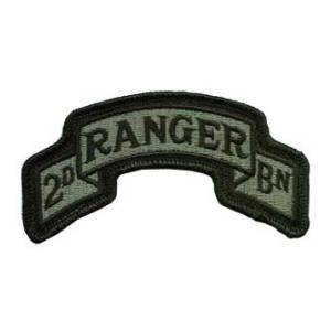 2/75th Infantry Scroll Patch  Foliage Green (Velcro Backed)