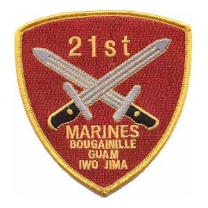 21st Marine Regiment Patch