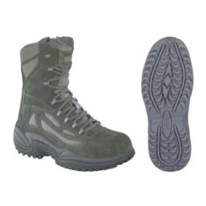"Reebok 8"" Sage Green Rapid Response Side Zip CST Boot"