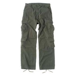 Vintage Style 8 Pocket BDU Pants Washed (Olive Drab)
