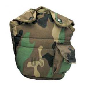 G.I. Type Enhanced Nylon 1QT. Canteen Cover (Woodland Camo)