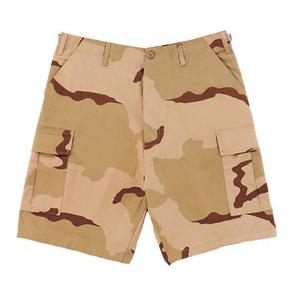BDU 6 Pocket Combat Shorts (3 Color Desert Camo)