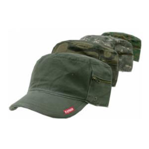 Vintage Style Patrol Cap with Zipper