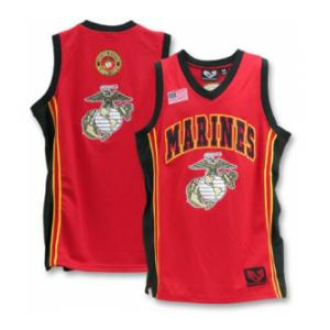 Marines Basketball Jersey(Red)