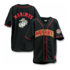 Marines Baseball Jersey(Black)