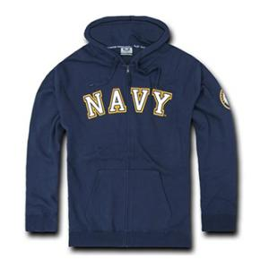 Navy Full Zip Hoodie (Navy Blue)