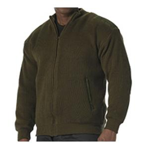 Reversible Zip-Up Commando Sweater (Olive Drab)