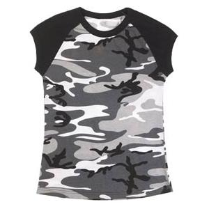 Rothco Women's Raglan T-Shirt (City Camo)