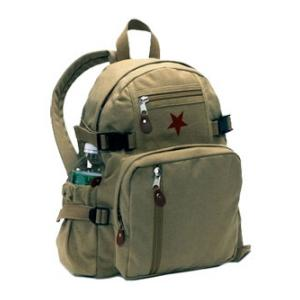 Khaki Vintage Star Back Pack