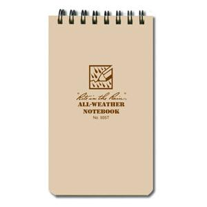"Rite In the Rain Tactical Pocket Notebook 3"" x 5"" Tan"