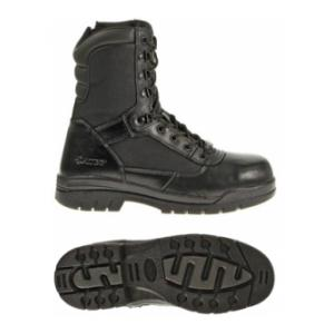 "Bates 8"" Black Side Zip Boot (Steel Toe)"