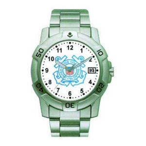 RAM Sports Chrome Watch with Date Display (Coast Guard)