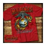 USMC Globe & Anchor T-shirt (Red) 7.62 Design