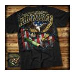 Air Force Fly Fight Win Tee (Black) 7.62 Design
