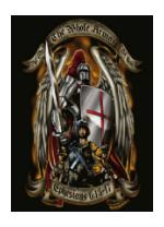 Armor of God T-Shirt Black Ink Design