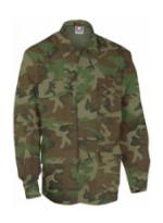 4 Pocket BDU Shirt (Ripstop)(Woodland Camo)