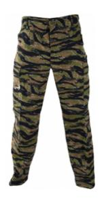 6 Pocket BDU Pants (Cotton/Poly Ripstop)(Asian Tiger Stripe Camo)