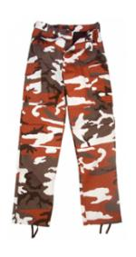 6 Pocket BDU Pants (Poly/Cotton Twill)(Red Camo)