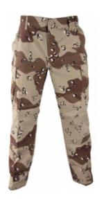 6 Pocket BDU Pants (Cotton / Poly Ripstop)(6 Color Desert Camo)