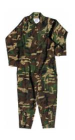 Air Force Style Flight Suit (Woodland Camo)