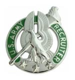 Army Recruiter Identification Badge (Nickel)