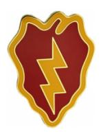 25th Infantry Division Combat Service I.D. Badge
