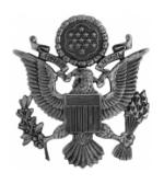 Air Force Officer Cap Badge (Male, Silver Oxidized Finish)