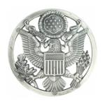 Air Force Enlisted Cap Badge (Silver-oxidized)