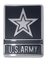Army Star Automobile Emblem