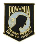 POW * MIA (Black) Pin