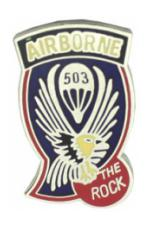 503rd Airborne Infantry Regiment Pin