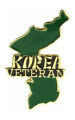 Korea Veteran Map Pin