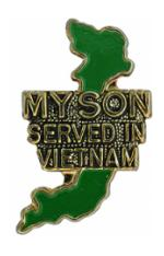 Vietnam My Son Served Pin